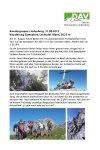 31. August 2019 Wandergruppe Lindenberg Samspitze