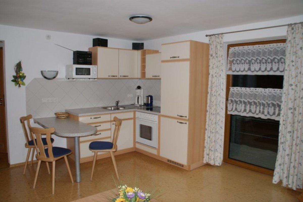 Die Küchenecke im Wohnraum