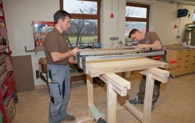 Mike und Michael bei der Arbeit