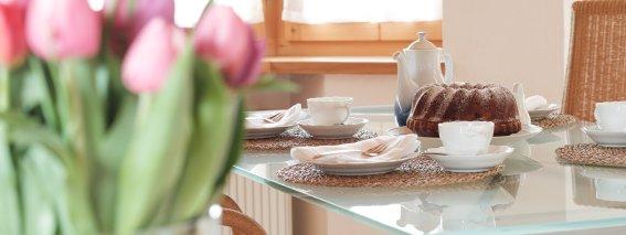 Liebevolle Tischdekoration
