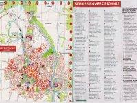 Plan mit Straßenverzeichnis