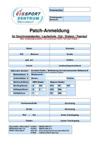 Anmeldeformular Patches GER