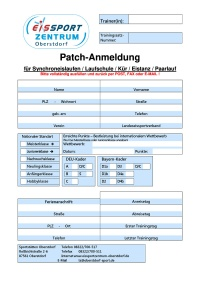 Anmeldeformular Patches GER