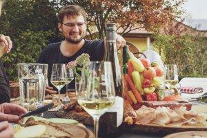 Gartenausschank im Weingut Emmerich