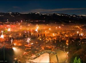 Silvester über Oberstdorf