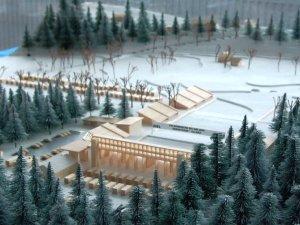 Modell des WM-Langlaufstadion im Ried