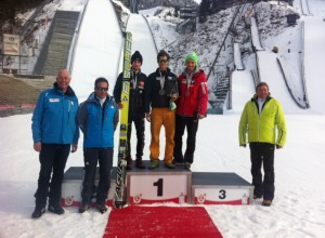 Siegerehrung FIS Cup Skisprung