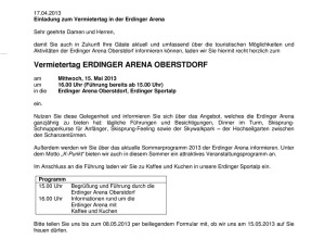 Einladung Vermietertag - Erdinger Arena 2013