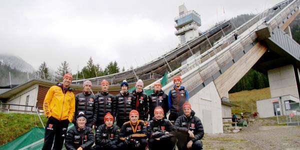 Das DSV-Team beim Training in der Erdinger Arena
