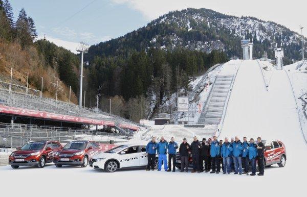 Honda mit dem neuen Civic Tourer bei der Vierschanzentournee