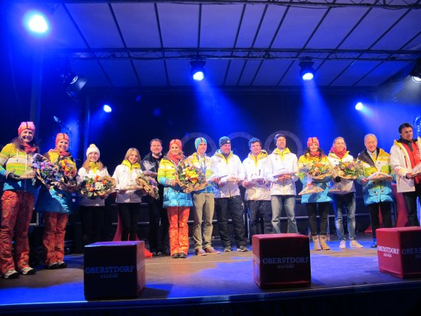 Oberstdorf feiert Olympiarückkehrer