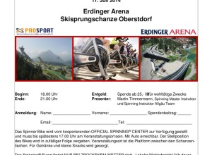 Spinning Charity Event 2014