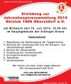 Einladung SCO-Hauptversammlung 2014