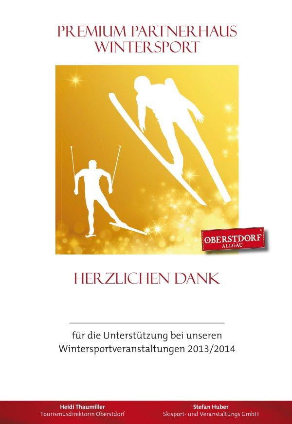Urkunde Partner Wintersport gold