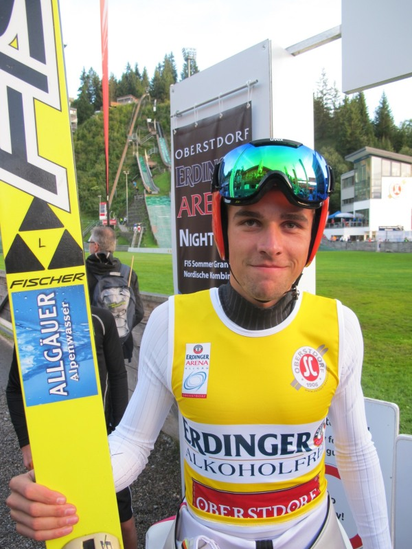 Johannes Rydzek bei der Qualifikation zum Sommer Grand Prix 2014