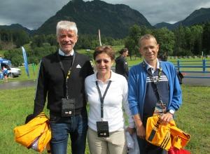 Sarah Lewis mit Dr. Franz Steinle und Walter Vogel