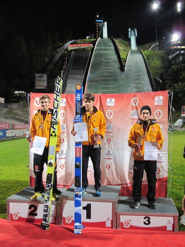Podium Skisprung-Wettkampf Herren 19.09.2014