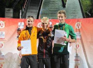 Podium Skisprung-Wettkampf J17 19.09.2014