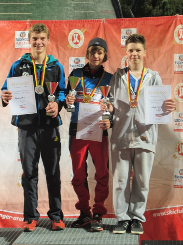 Podium Skisprung-Wettkampf J16 20.09.2014