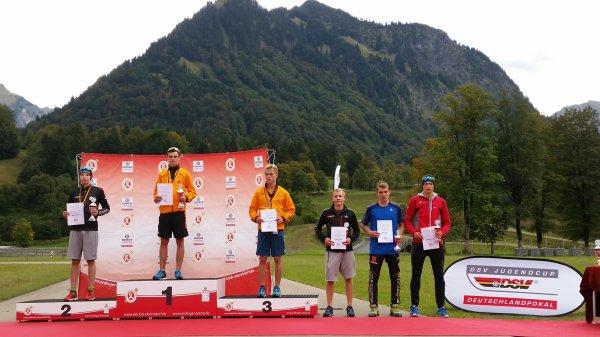 Podium J17 Nordische Kombination 21.09.2014