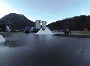Schnee-Silos für die Vierschanzentournee