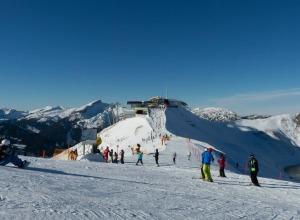 Skibetrieb auf der Kanzelwand