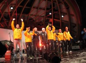 La-Ola-Welle der deutschen Mannschaft