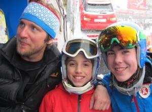David Berktold mit Kilian Schubert und Luca Müller