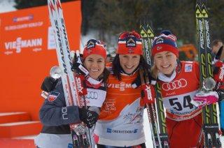 Drei strahlende Norwegerinnen