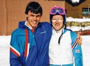 Andi Bauer und Eddie the Eagle