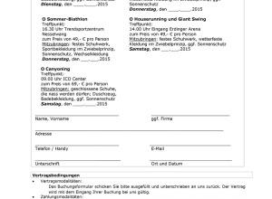 Buchungsformular ICO Sommerspecial 2015
