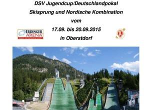 Ausschreibung DSV Jugendcup / Deutschlandpokal 17. - 20.09.2015