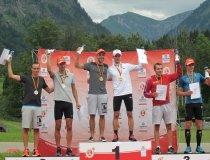 Siegerehrung Deutsche Meisterschaften 2015 Nordische Kombination Team-Sprint