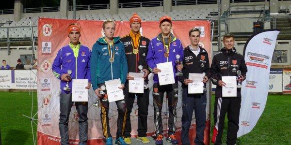 Siegerpodium Skispringen Herren 18.09.2015