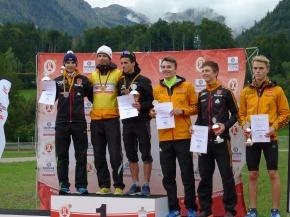 Podium Herren Nordische Kombination 19.09.2015