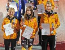 Siegerpodium Skispringen Damen 19.09.2015