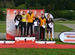 Podium Herren Nordische Kombination 20.09.2015