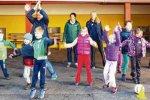 Start der Bewegungsolympiade in der Grundschule Oberstdorf