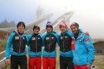 Team Österreich beim Training in der Erdinger Arena
