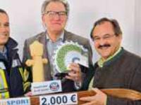 Spendenübergabe Manfred Baldauf