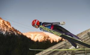 Carina Vogt beim Weltcup in Oberstdorf