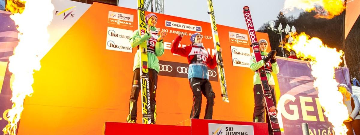 Stefan Kraft Doppelsieger beim FIS Weltcup Skifliegen in Oberstdorf