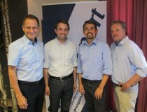 Dominik Fritz (zweiter von links) übernimmt kommissarisch die ehrenamtliche ProSport-Geschäftsführung von Stefan Huber (zweiter