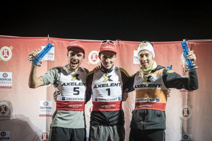 Eric Frenzel gewinnt vor Johannes Rydzek und Mario Seidl