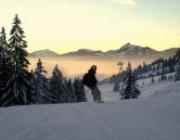 Nebelhornabfahrt mit Sonnenuntergang