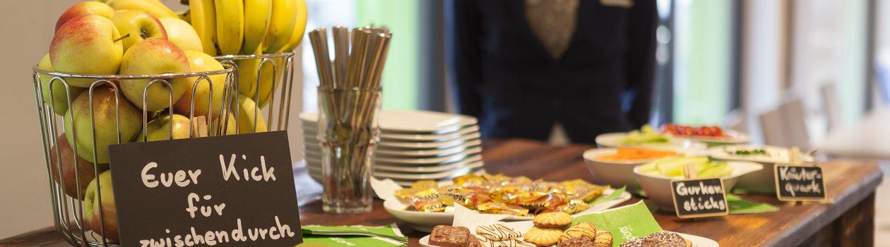 Leckere Snacks gibt es während der Tagung im Explorer Hotel