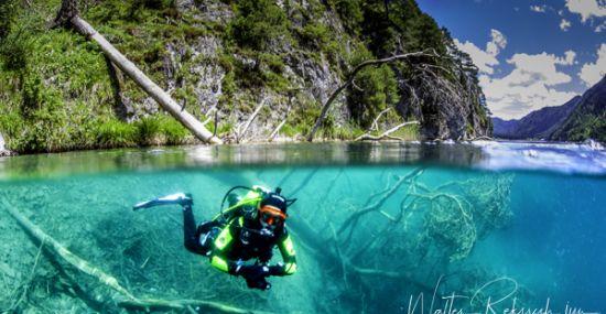 Diving im Weissensee
