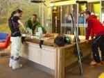 Werkbank im Ski-Testcenter