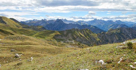 Alpen-Panorama im Allgäu
