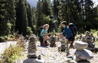 Eine kleine Abwechslung während dem Wandern in den Alpen